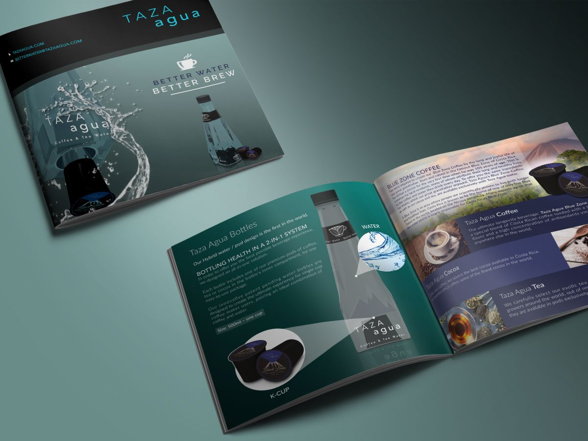 Brochure design for natural beverage company - by Fervr Design