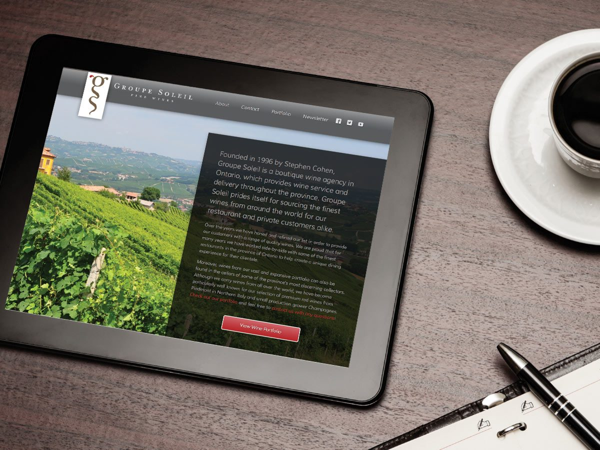 Web design and custom CMS for boutique wine agency - by Fervr Design